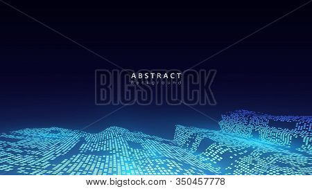 Virtual Data Analysis Technology Vector Background Design,abstract Futuristic Cyberspace Background,