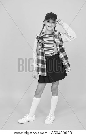 Tomboy Concept. Teen Age. Girl Adorable Stylish Outfit Teenager. Comfortable Outfit. Modern Outfit.