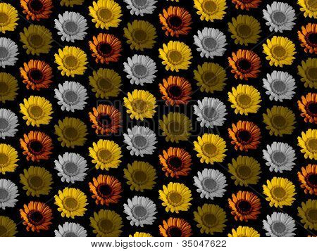 Colourful Flower Repeat Background