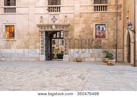 Roman Catholic Cathedral Of Santa Maria Of Palma Or La Seu As Seen From Walking Around The Outside O