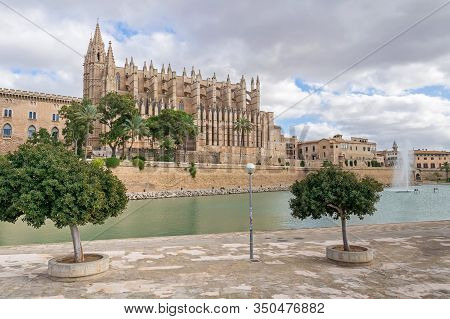 Parque Del Mar And Palma Cathedral - The Roman Catholic Cathedral Of Santa Maria Of Palma, Commonly