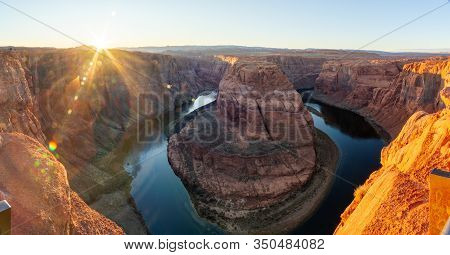 Horseshoe Bend; Horseshoe Bend Panorama; Grand Canyon; Panorama; Panoramic; Canyon Grand; Lens Flare