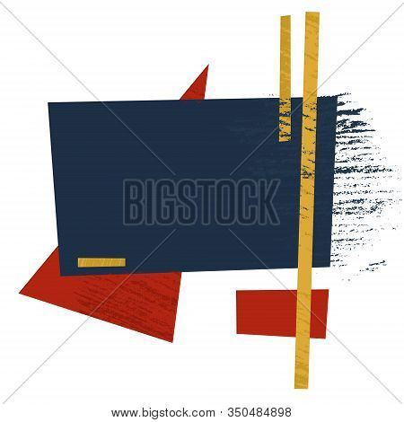 Aavant-garde Geometric Ornament. Background, Composition For Design, Poster, Banner Or Other Templat