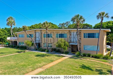 ANNA MARIA ISLAND, FL / USA - September 23, 2019: The LayBy Resort on Holmes Beach Fl. is a beach front property reportedly sold to Country Music Superstars Garth Brooks and his wife, Trisha Yearwood.