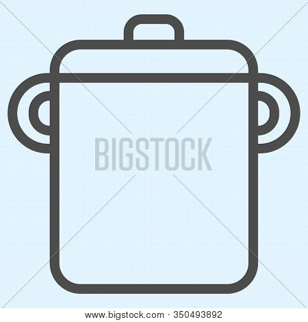 Pot Line Icon. Saucepan For Brewing Food. Home-style Kitchen Vector Design Concept, Outline Style Pi