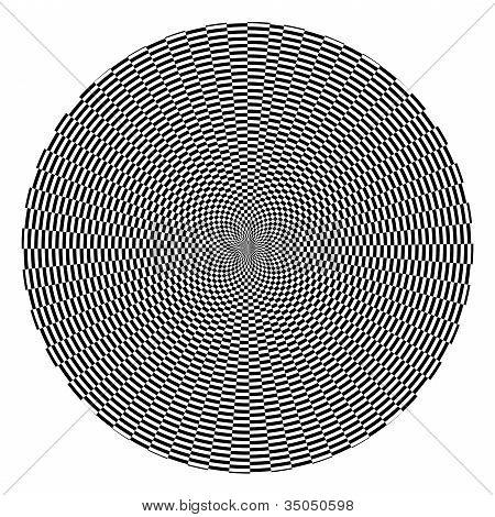 Black And White Checkered Optical Illusion