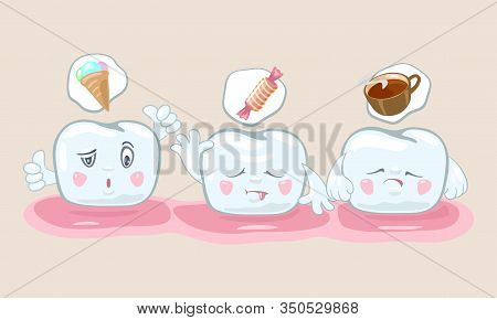 Visual Nutritional Guidelines, Recommendations To Keeping Teeth White, Strong And Healthy. Useful An