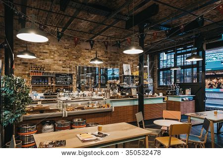 London, Uk - November 26, 2019: Interior Of The Camden Grocer, A Luxury Deli And Cafe In Camdens Sta