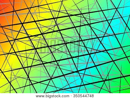 Colorful Random Chaotic Lines, Scattered Lines, Random Chaotic Lines Asymmetrical Texture Vector Abs