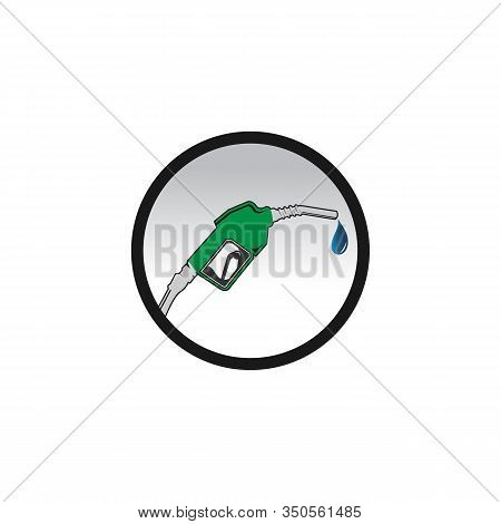 Petrol Station Icon Vector Illustration For Petrol Design And Web Isolate Background. Petrol Station