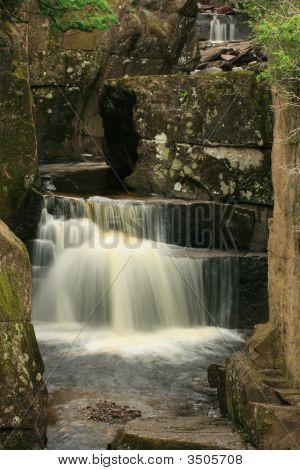 Feathery Waterfall At Bracklinn Falls Callander Scotland