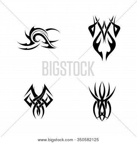 Tribal Tattoos. Art Tribal Tattoo. Vector Sketch Of A Tattoo.