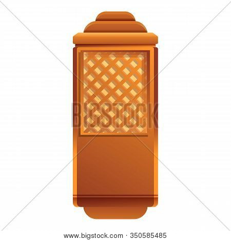 Wood Elevator Cabine Icon. Cartoon Of Wood Elevator Cabine Vector Icon For Web Design Isolated On Wh