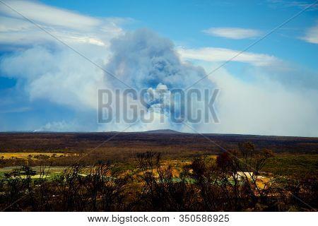 Giant Smoke Plume From Bush Fires - Australia