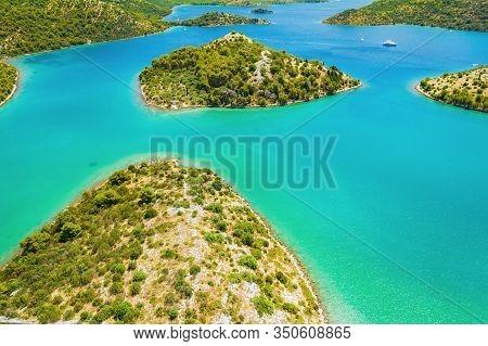 Croatia, Beautiful Adriatic Sea, Blue Bays In Nature Park Telascica On The Island Of Dugi Otok, Aeri
