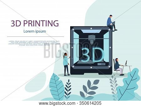 Industrial 3d Printer Prints A House Concept. File Contains Transparent Objects. 3d Printing Or Addi