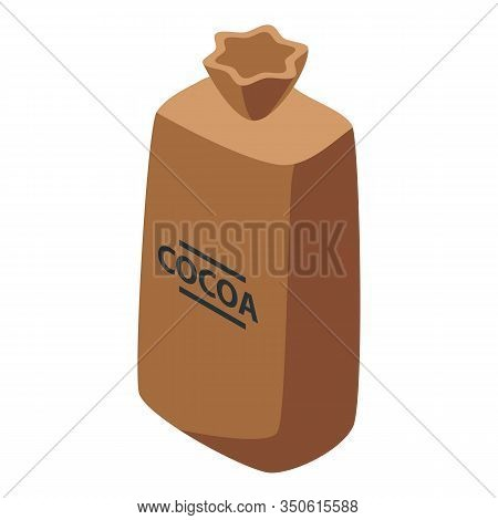 Cocoa Sack Icon. Isometric Of Cocoa Sack Vector Icon For Web Design Isolated On White Background