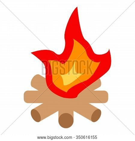 Nature Campfire Icon. Isometric Of Nature Campfire Vector Icon For Web Design Isolated On White Back