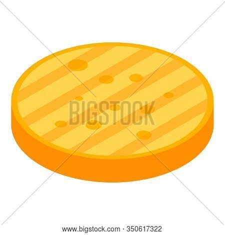 Fried Bun Icon. Isometric Of Fried Bun Vector Icon For Web Design Isolated On White Background