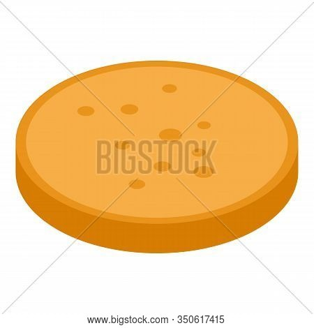 Middle Burger Bun Icon. Isometric Of Middle Burger Bun Vector Icon For Web Design Isolated On White