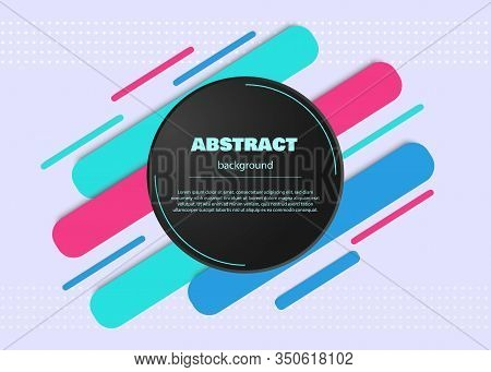 Hipster Modern Geometric Abstract Background. Abstract Circle Geometric Background Design. Template