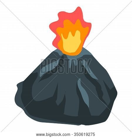Exploding Volcano Icon. Isometric Of Exploding Volcano Vector Icon For Web Design Isolated On White