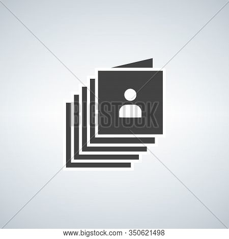 Documents With Personal Data Vector Illustration, Flat Cartoon Paper Document Pile. Stock Vector Ill