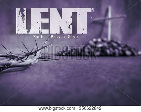 Lent Season,holy Week And Good Friday Concepts - Text