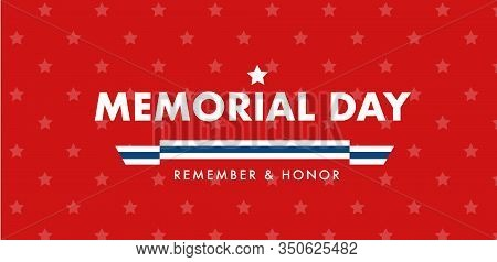 Mdmemorial Day Greetings Background Or Banner. Memorial Day Poster Design.