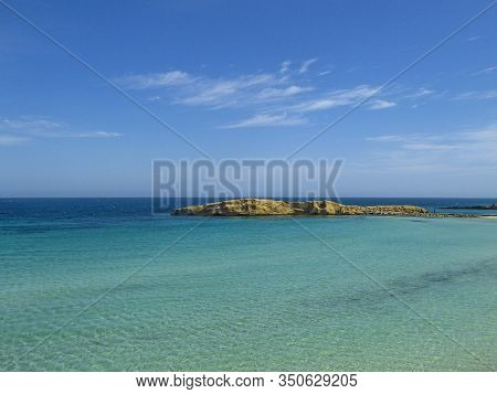 Headland On The Mediterranean Sea In Monastir In Tunisia Africa