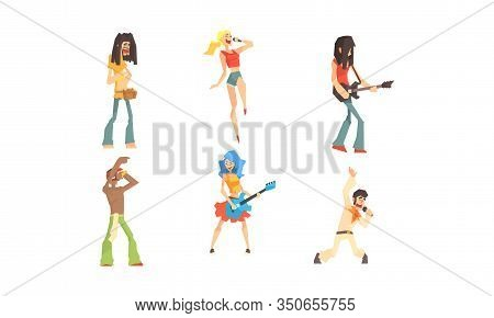 Musicians People Characters Collection, Musicians And Singers Of Different Genres Vector Illustratio