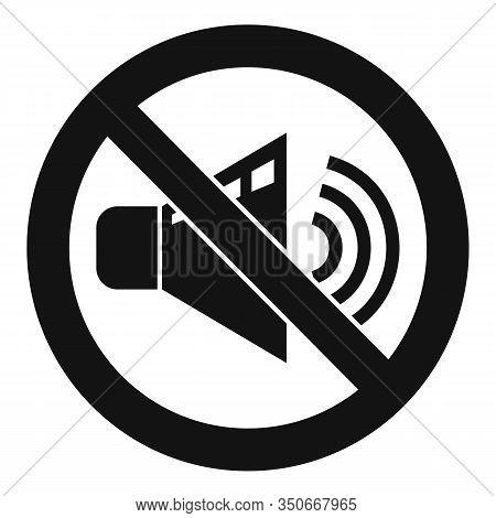 No Sound Speaker Icon. Simple Illustration Of No Sound Speaker Vector Icon For Web Design Isolated O