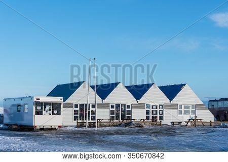 Jokulsarlon Iceland - February 17. 2019: The Cafeteria And Ticket Sales Office At Jokulsarlon Glacie