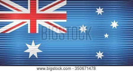 Shiny Grunge Flag Of The Australia - Illustration,  Three Dimensional Flag Of Australia