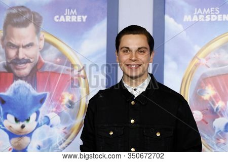 LOS ANGELES - JAN 12: Jake T Austin at the Sonic The Hedgehog Special Screening at the Regency Village Theater on February 12, 2020 in Los Angeles, California