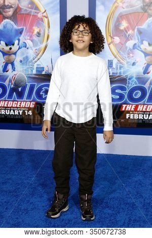 LOS ANGELES - JAN 12: Ethan William Childress at the Sonic The Hedgehog Special Screening at the Regency Village Theater on February 12, 2020 in Los Angeles, California