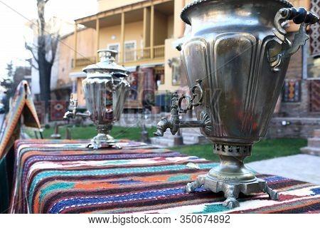 Vintage Samovar In Swap Meet