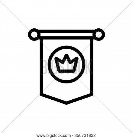 Blazon Icon Vector. Thin Line Sign. Isolated Contour Symbol Illustration