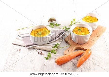 carrot flan- carrot souffle, french gastronomy
