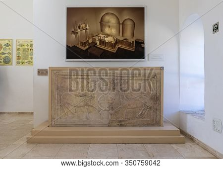 Jerusalem, Israel, January 25, 2020 : The Chancel Screen From A Church In The Hebron Hills - Exhibit
