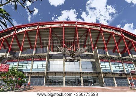 Lisboa, Portugal - April 2018: View On Estadio Da Luz Arenas