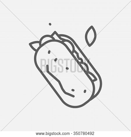 Ciabatta Icon Line Symbol. Isolated Vector Illustration Of Icon Sign Concept For Your Web Site Mobil