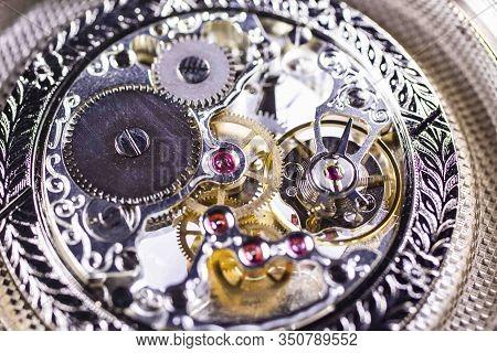 Le Locle, Switzerland 15.01.2020 - Tissot Stainless Steel Case, Swiss Quartz Mechanical Watch Open W