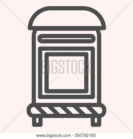 Mailbox Line Icon. Mail Postage Letterbox. Postal Service Vector Design Concept, Outline Style Picto