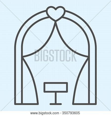 Ark Thin Line Icon. Romantic Ceremony Altar Place. Wedding Asset Vector Design Concept, Outline Styl