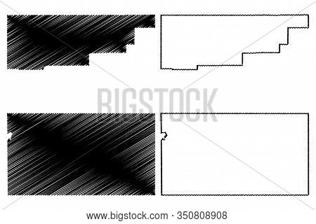Rio Blanco And Sedgwick County, Colorado (u.s. County, United States Of America,usa, U.s., Us) Map V