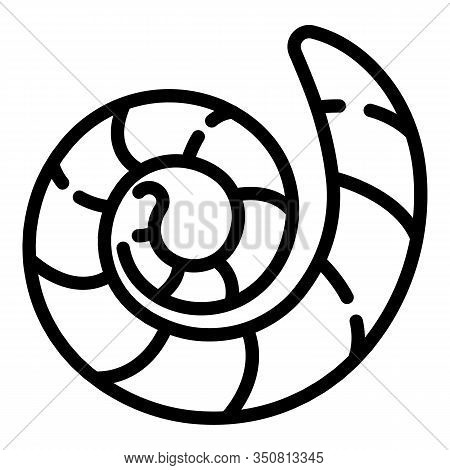 Ground Worm Icon. Outline Ground Worm Vector Icon For Web Design Isolated On White Background