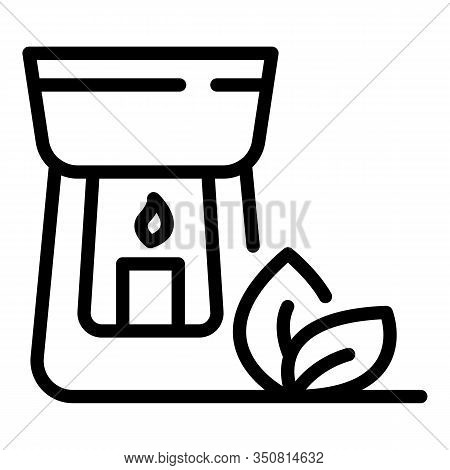 Wellness Candle Icon. Outline Wellness Candle Vector Icon For Web Design Isolated On White Backgroun