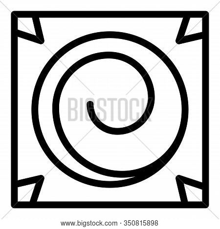 Square Hypnosis Icon. Outline Square Hypnosis Vector Icon For Web Design Isolated On White Backgroun