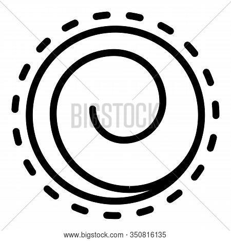 Vortex Hypnosis Icon. Outline Vortex Hypnosis Vector Icon For Web Design Isolated On White Backgroun